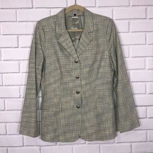DAVID MEISTER Blazer Colorful Plaid Long Sleeve